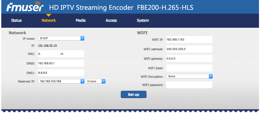 FBE200-h 265 to NGINX-RTMP instability - IPTV Streaming - How to