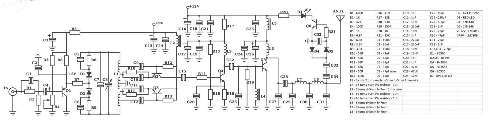 How To Make A 2 5w Fm Transmitter Circuit Cover 3 10km Range FM Designs 9v Radio Diagram