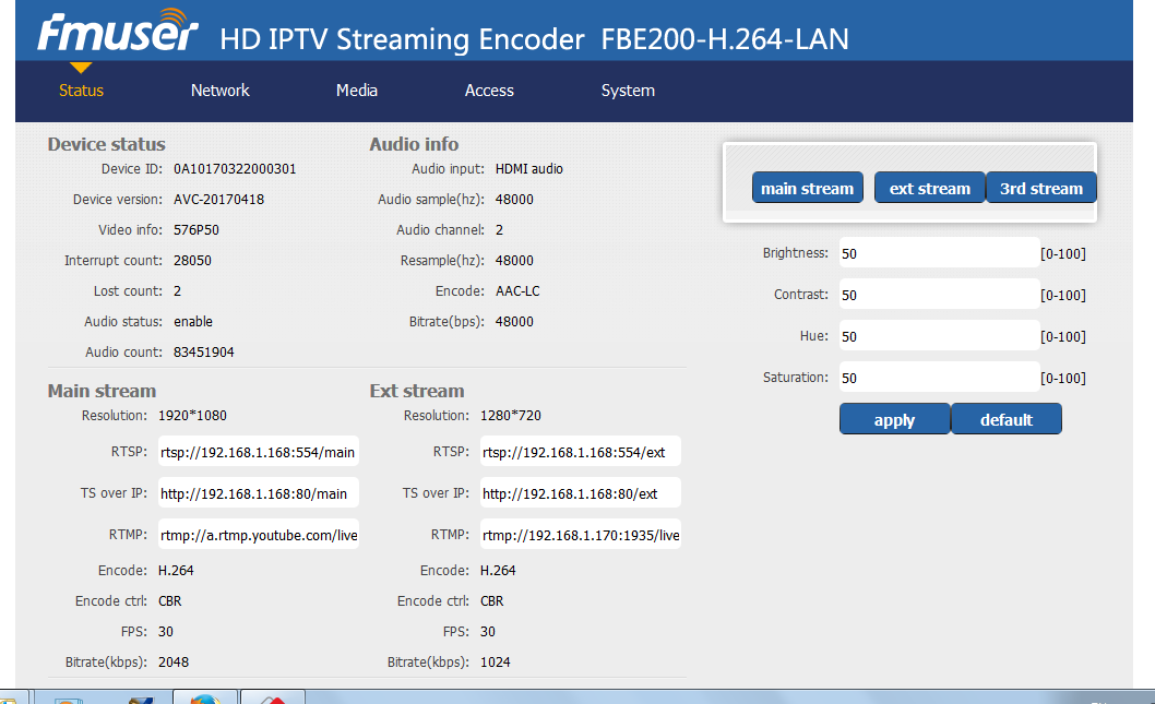 How to Connect a IPTV Encoder to Streaming on a Computer and